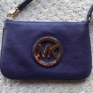 New Michael Kors purple Fulton Gold Purse Wallet